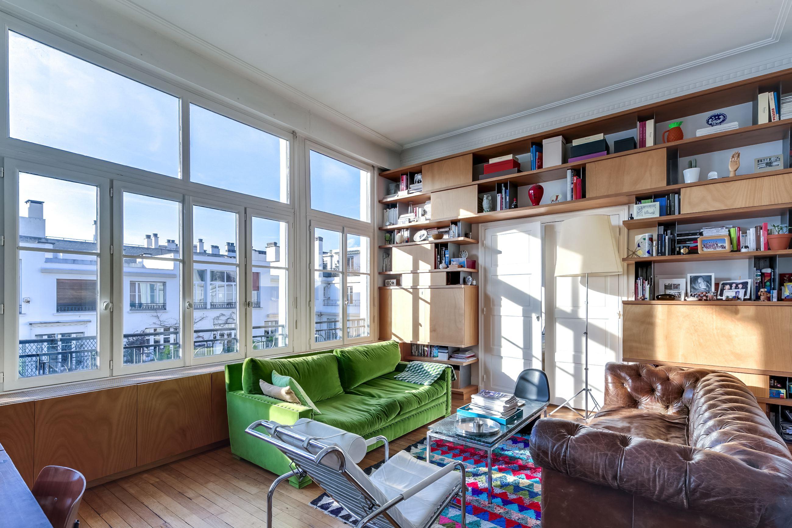 Dernier étage # 97 m² de pur bonheur # Paris 16<sup>ème</sup> sud