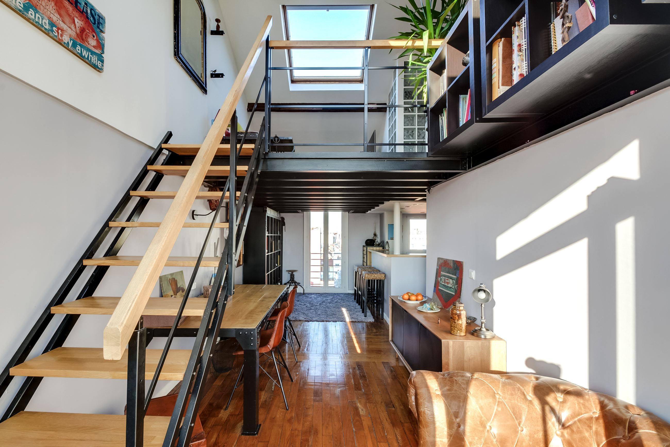 duplex incroyable panorama exceptionnel asni res sur seine dernier tage paris. Black Bedroom Furniture Sets. Home Design Ideas