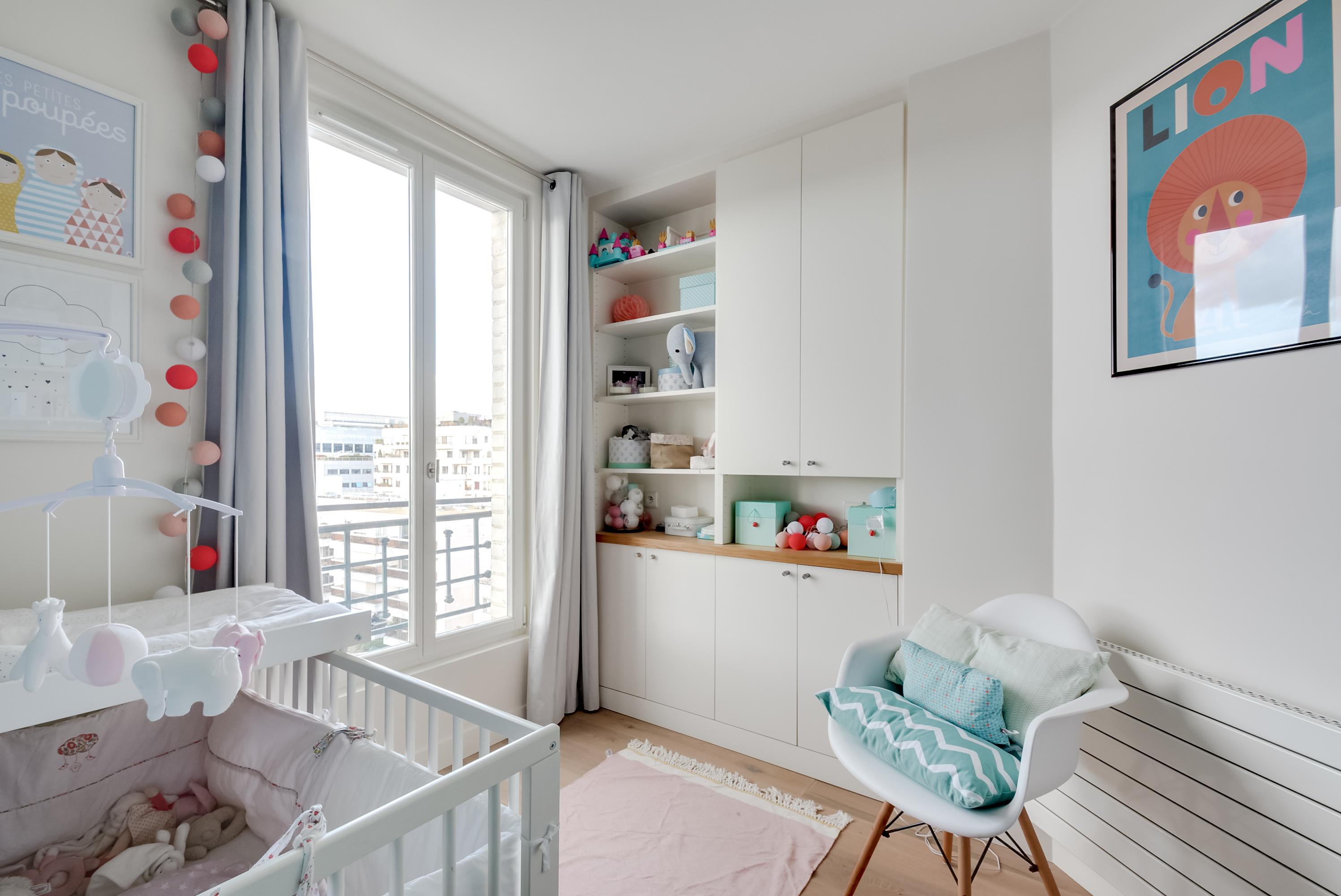 Magnifique dernier tage de 86m avec vue imprenable for Chambre bebe paris