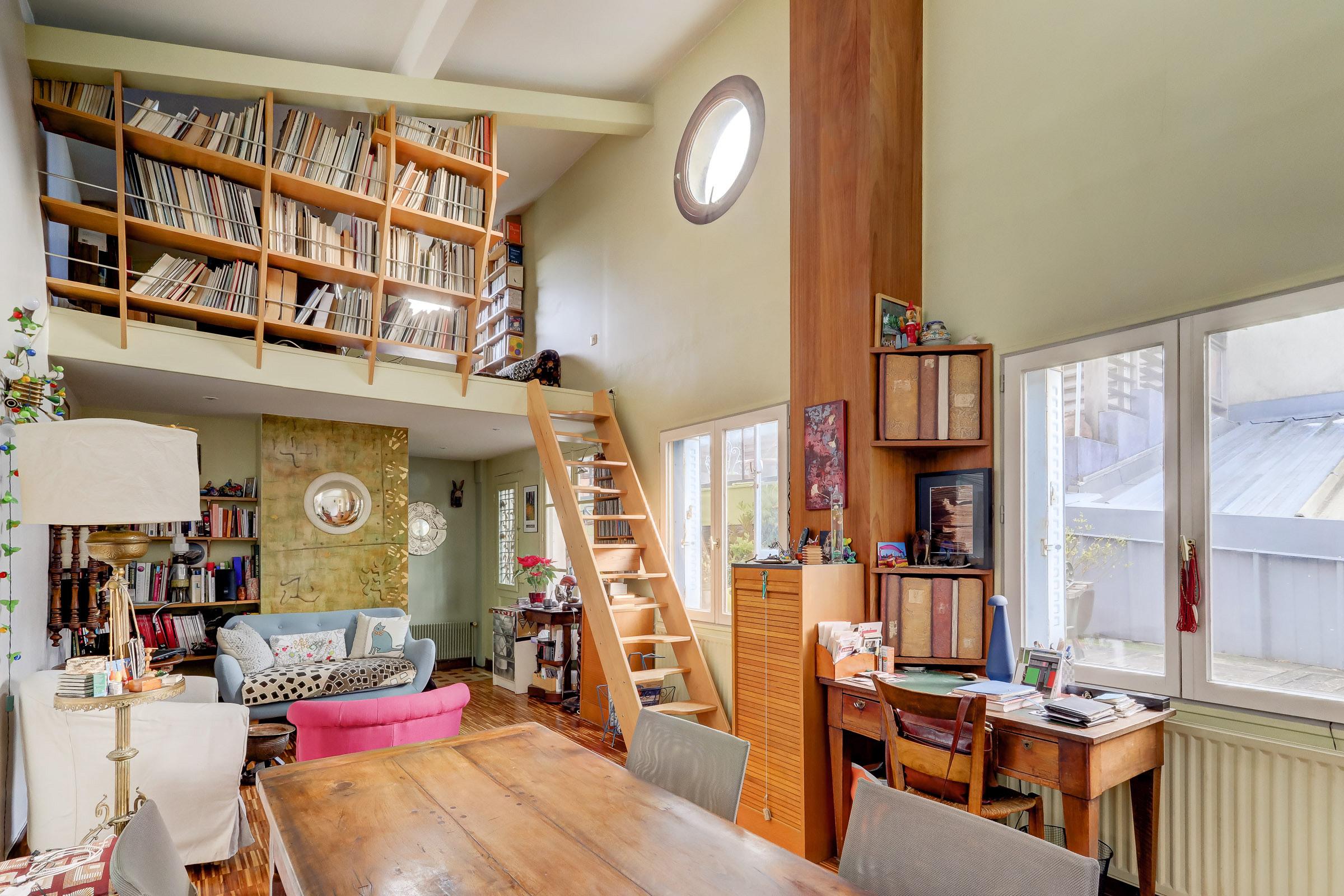 Maison esprit loft avec atelier d'artiste à Montreuil
