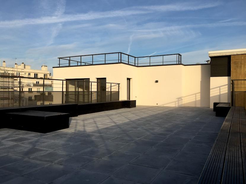 Rooftop avec immense terrasse# Montreuil